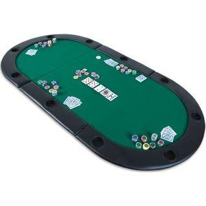 Mata składana do pokera zielona obraz