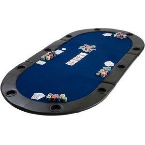 Mata składana do pokera niebieska obraz