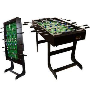 Piłkarzyki stół piłkarski MDF czarny 121 x 101 x 79 cm obraz