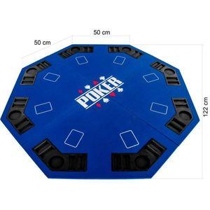 Składana mata do pokera - niebieska obraz