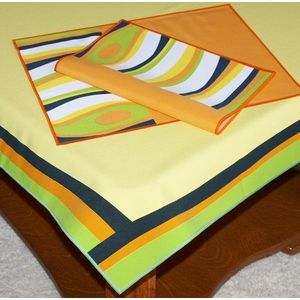 czarny/zielony/pomarańczowy obraz
