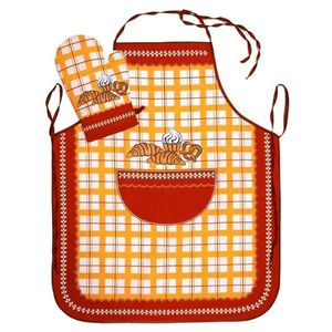 Forbyt, Fartuch i rękawica kuchenna, Pieczywo - komplet, bordowy obraz