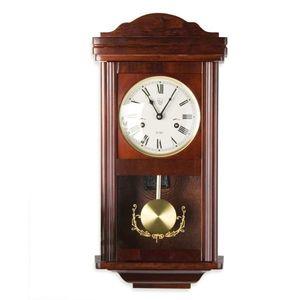Zegar ścienny wiszący antyczny wahadłowy THESEUS Mahagoni 60 cm obraz
