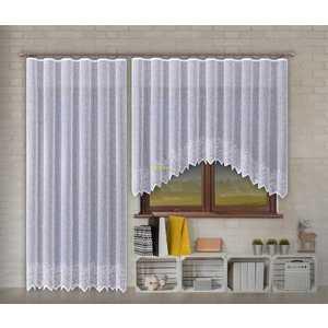 Forbyt, Gotowa firanka lub balkonowy komplet, Olympia, biała obraz