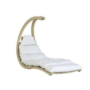 Drewniany fotel hamakowy, Szary Swing Lounger obraz
