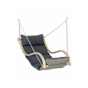 Drewniany fotel hamakowy, Szary Fat Chair obraz