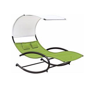 Dwuosobowy fotel bujany, Zielony CHAISERK2 obraz