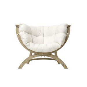 Fotel drewniany, ecru Siena Uno natura obraz