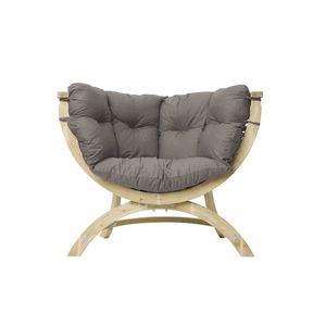 Fotel drewniany, Zielony Siena Uno weatherproof obraz