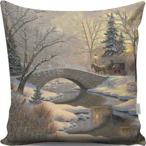 Dwustronna poduszka Bridge, 43x43 cm obraz