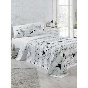 Narzuta pikowana z 2 poszewkami na poduszki Kimberly, 200x220 cm obraz