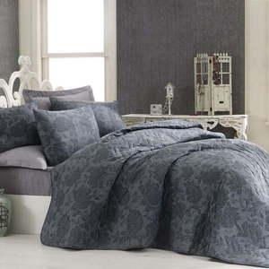 Pikowana narzuta z poszewkami na poduszki Jamie, 200x220 cm obraz