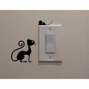 Naklejka dekoracyjna Cat & Mouse, wys. 11 cm obraz