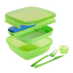 Zielony pojemnik na lunch ze sztućcami i z wkładem chłodzącym Snips Lunch, 1, 5 l obraz