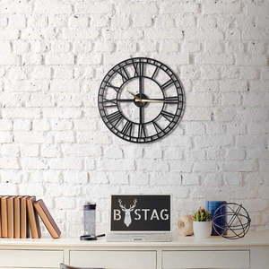 Czarny zegar ścienny Greece, 50x50 cm obraz