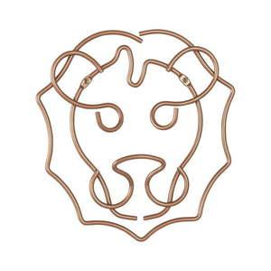 Wieszak w kształcie lwa Metaltex, szer. 27 cm obraz