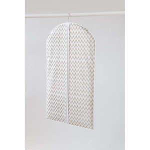 Biały materiałowy pokrowiec na ubrania Compactor Clear, dł. 100 cm obraz