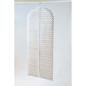 Biały materiałowy pokrowiec na ubrania Compactor Clear, dł. 137 cm obraz
