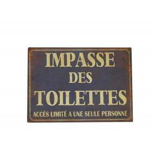 Tabliczka z blachy Antic Line Impasse Des Toilettes obraz