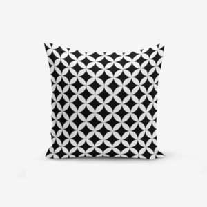 Czarno-biała poszewka na poduszkę z domieszką bawełny Minimalist Cushion Covers Black White Geometric, 45x45 cm obraz