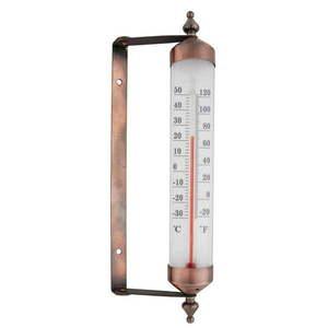 Termometr w brązowym kolorze Ego Dekor, wys. 25 cm obraz