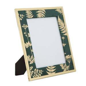 Zielono-złota ramka stołowa na zdjęcie Mauro Ferretti Glam, 20x25 cm obraz