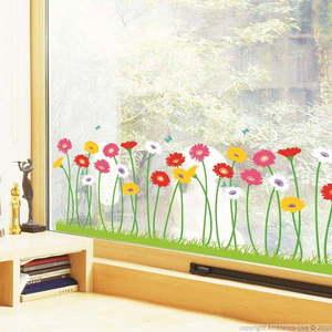 Zestaw naklejek Ambiance Garden of flowers obraz
