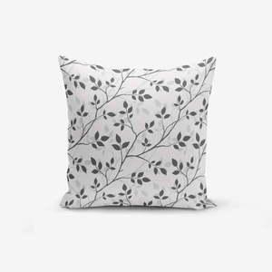 Poszewka na poduszkę z domieszką bawełny Minimalist Cushion Covers Grey Background Leaf, 45x45 cm obraz