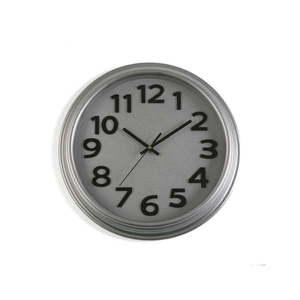 Szary zegar ścienny Versa In Time, ⌀ 32, 7 cm obraz