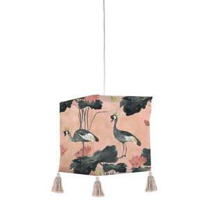 Tekstylna lampa wisząca Madre Selva Flores y Gruas obraz