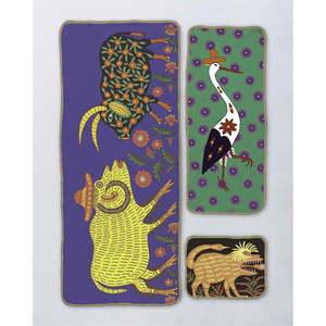 Zestaw 3 ręczników Madre Selva La Route des Monsters obraz