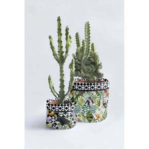 Zestaw 2 tekstylnych doniczek Surdic Tropical Patchwork obraz