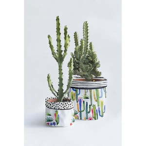 Komplet 2 tekstylnych doniczek Surdic Watercolor Cactus obraz