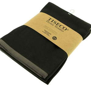 Komplet 3 czarnych bawełnianych ścierek Tiseco Home Studio, 50x70 cm obraz