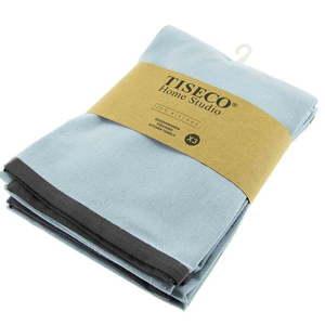 Komplet 3 jasnoniebieskich bawełnianych ścierek Tiseco Home Studio, 50x70 cm obraz