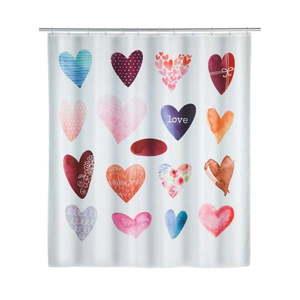Zasłona prysznicowa Wenko Love, 180x200 cm obraz