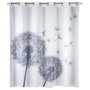 Biała zasłona prysznicowa z warstwą przeciw pleśni Wenko Dandelions, 180x200 cm obraz