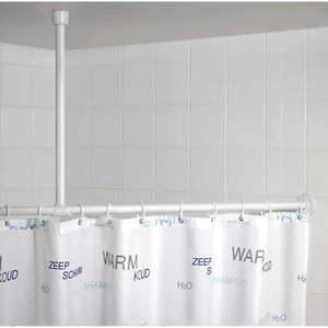 Biały drążek sufitowy na zasłonę prysznicową Wenko, 57 cm obraz