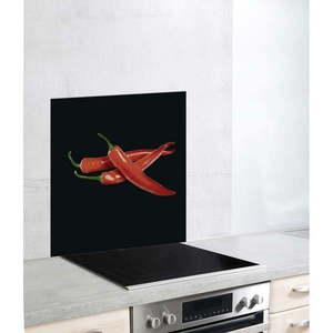 Szklana płyta ochronna na kuchenkę Wenko Peperoni, 60x70 cm obraz