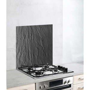 Szklana płyta ochronna na kuchenkę Wenko Splashback Slate, 60x70 cm obraz