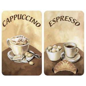 Zestaw 2 szklanych płyt ochronnych na kuchenkę Wenko Coffee obraz