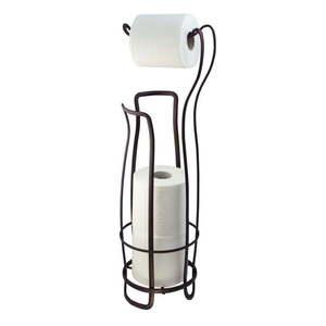 Stalowy stojak na papier toaletowy w kolorze brązu InterDesign, 62, 5 cm obraz