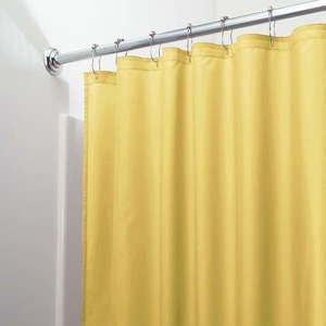 Żółta zasłona prysznicowa iDesign Poly obraz