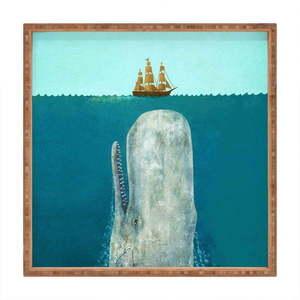 Drewniana taca dekoracyjna Moby, 40x40 cm obraz