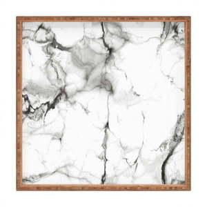 Drewniana taca dekoracyjna Marble, 40x40 cm obraz