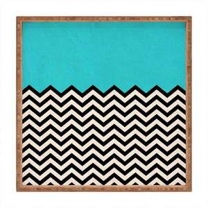 Drewniana taca dekoracyjna Azzure, 40x40 cm obraz