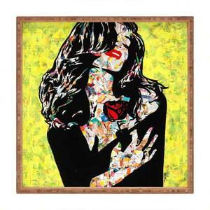 Drewniana taca dekoracyjna Alicia, 40x40 cm obraz