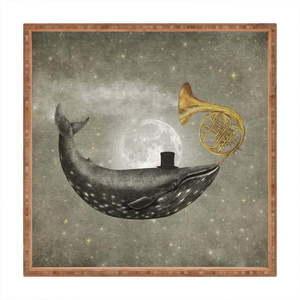 Drewniana taca dekoracyjna Alegories, 40x40 cm obraz