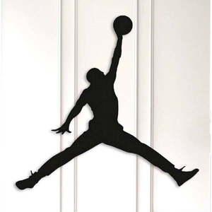 Czarna metalowa dekoracja ścienna Basketball obraz
