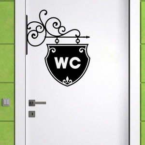 Dekoracyjna naklejka na ścianę WC Arrow obraz